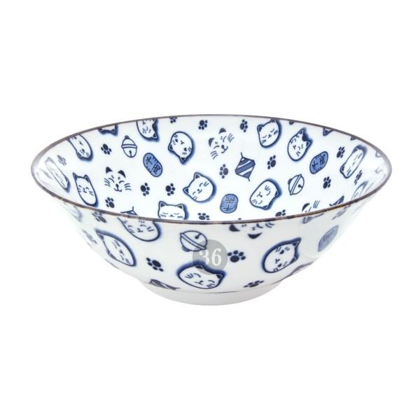 """Tokyo Design - """"Lucky Cat Blue"""" Bowl, 18,2x7,7cm"""