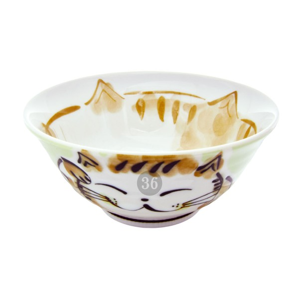 "Tokyo Design - ""Fuku Cat Green"" Bowl, 15x7cm"