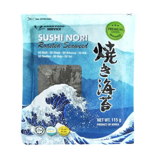 AFS - Geröstete Nori-Blätter für Sushi, 50Stk