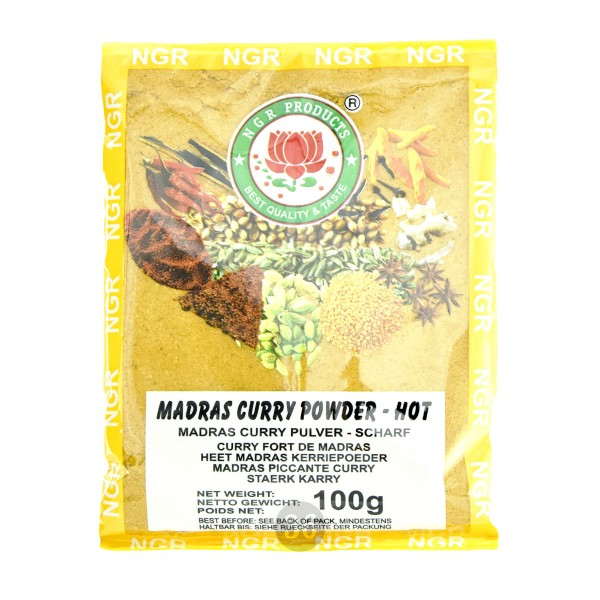 NGR - Madras-Curry-Pulver, 100g