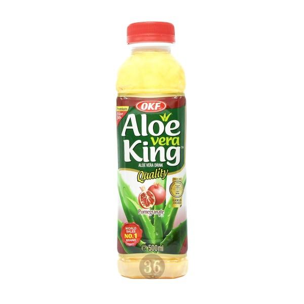 OKF - Aloe-Vera-Getränk mit Granatapfelgeschmack, 500ml