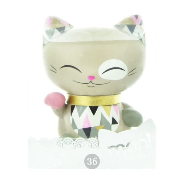 "Mani the lucky Cat Deko-Figur ""grau"", 7cm"