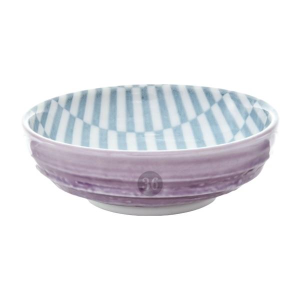 "Tokyo Design - ""Geometric Purple"" Bowl, 9,5x3cm"