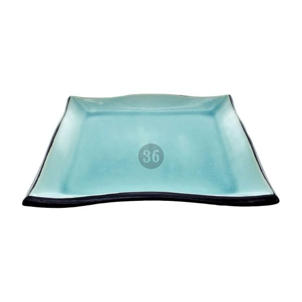 """Tokyo Design - """"Glassy Turquoise"""" Teller, 22cm Durchmesser"""