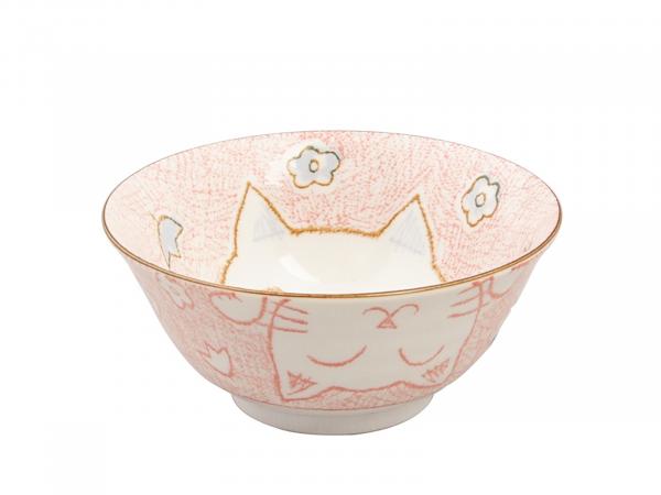 KAWAII CAT PINK BOWL | Ø15,3CM | H8CM | 500ML