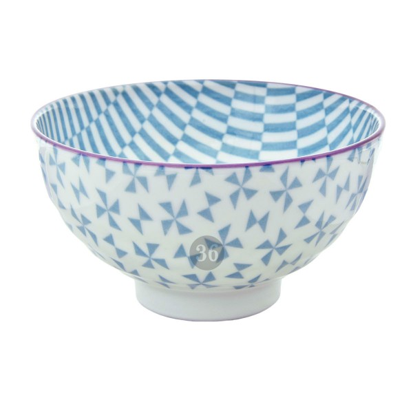 "Tokyo Design - ""Geometric Light Blue"" Bowl, 12x6,5cm"