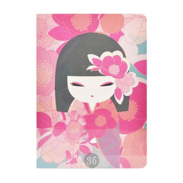"""Kimmidoll"" Notizbuch pink/floral"