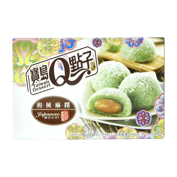 Taiwan Dessert - Pandan-Mochis mit Kokosraspeln, 210g