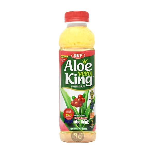OKF - Aloe-Vera-Getränk mit Cranberry, 500ml