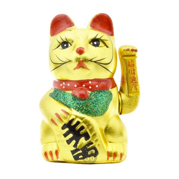 """Winkekatze """"gold"""", 21cm"""