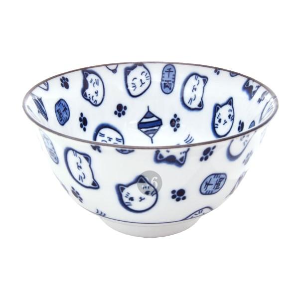 """Tokyo Design - """"Lucky Cat Blue"""" Bowl, 12,7x6,5cm"""