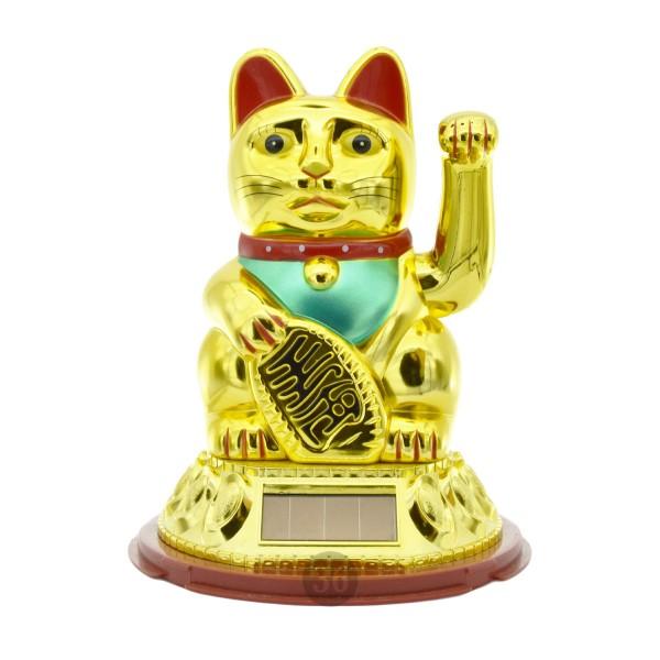 """Winkekatze """"gold"""", 18cm"""