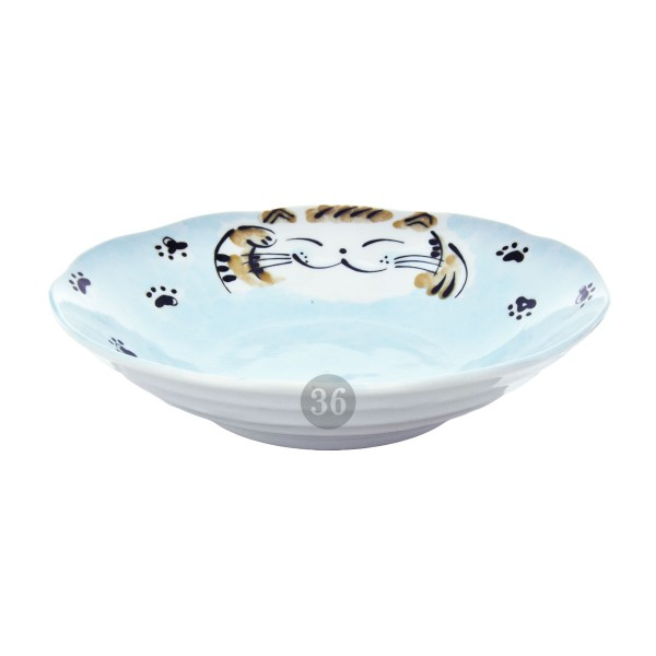 "Tokyo Design - ""Fuku Cat Blue"" Bowl, 21x5cm"