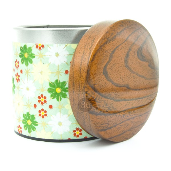 Teedose Blumen/grün