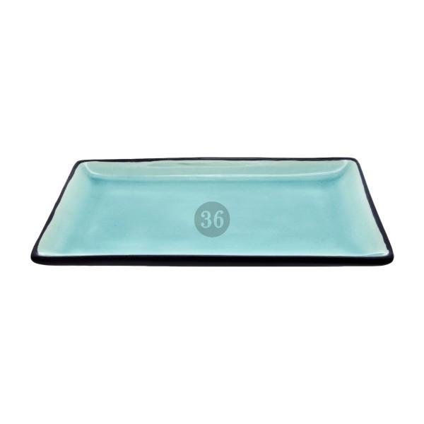"""Tokyo Design - """"Glassy Turquoise"""" Servierplatte, 21,5x12,7cm"""