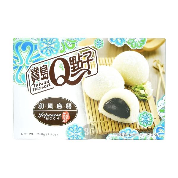 Taiwan Dessert - Sesam-Mochis mit Kokosraspeln, 210g
