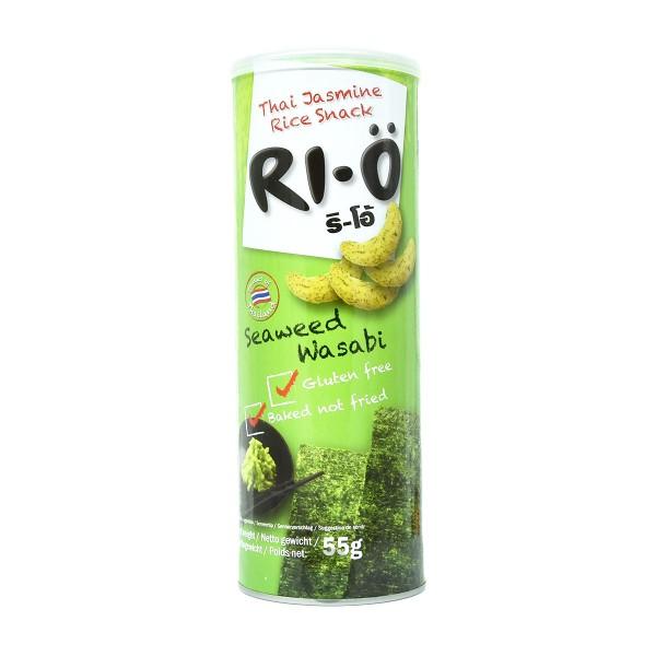 Ri-Ö - Reis-Snack mit Meeresalgen und Wasabi, 55g