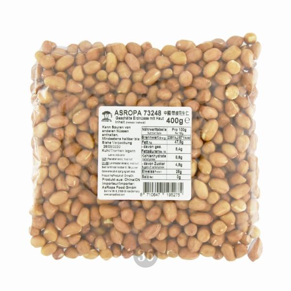 Three Coconut Tree - Geschälte Erdnüsse mit Haut, 400g