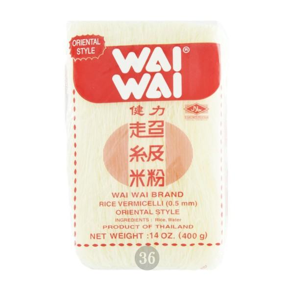 Wai Wai - Dünne Reisnudeln(0,5mm), 400g