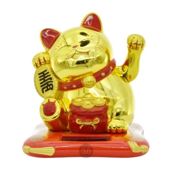 """Winkekatze """"gold"""", 10cm"""