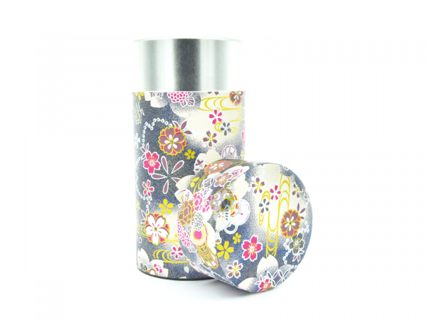 FLOWER GREY TEA CONTAINER | Ø7,4CM | 15,5CM | 200GR