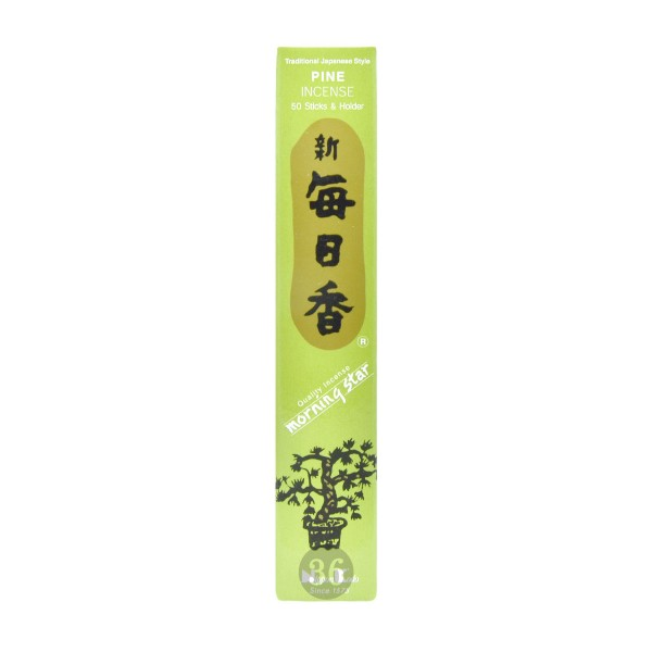 "Nippon Kodo - Räucherstäbchen ""Kiefer"" inkl. Halterung, 50Stück"
