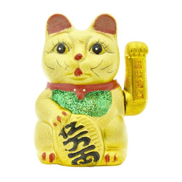 """Winkekatze """"gold"""", 16cm"""