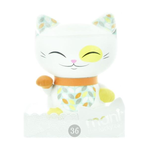 "Mani the lucky Cat Deko-Figur ""weiß"", 7cm"