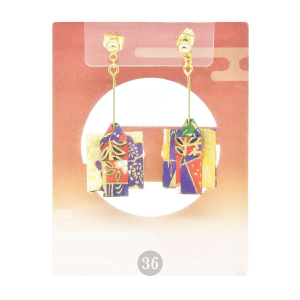 "Corazon - Origami-Ohrringe ""Kimono bunt"""