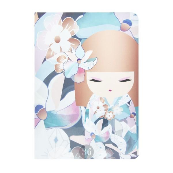 """""""Kimmidoll"""" Notizbuch blau/rosa/floral"""