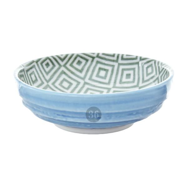 "Tokyo Design - ""Geometric Blue/Green"" Bowl, 9,5x3cm"