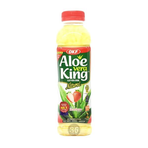 OKF - Aloe-Vera-Getränk mit Erdbeergeschmack, 500ml