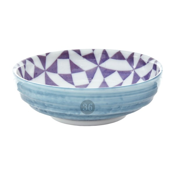 "Tokyo Design - ""Geometric Blue/Purple"" Bowl, 9,5x3cm"