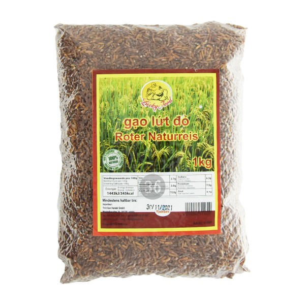 Lucky Food -Roter Naturreis, 1kg