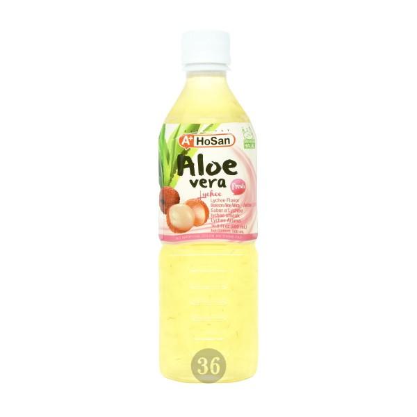 Hosan - Aloe-Vera-Getränk mit Litschigeschmack, 500ml