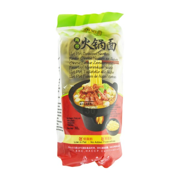 Qiu Shi - Hot Pot Seegras-Nudeln, 300g